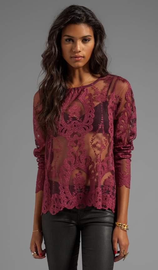 Forever Long Sleeve Lace Top