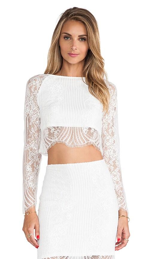 64e922542f6 For Love & Lemons Lolo Crop Top in White | REVOLVE