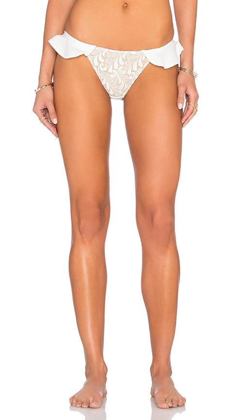 For Love & Lemons St. Tropez Bikini Bottom in White
