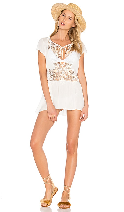 For Love & Lemons St Kitts Mini Dress in White