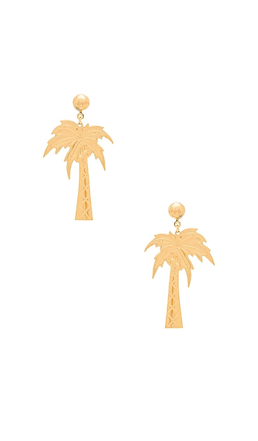 Frasier Sterling Palm Beach Earrings in Metallic Gold