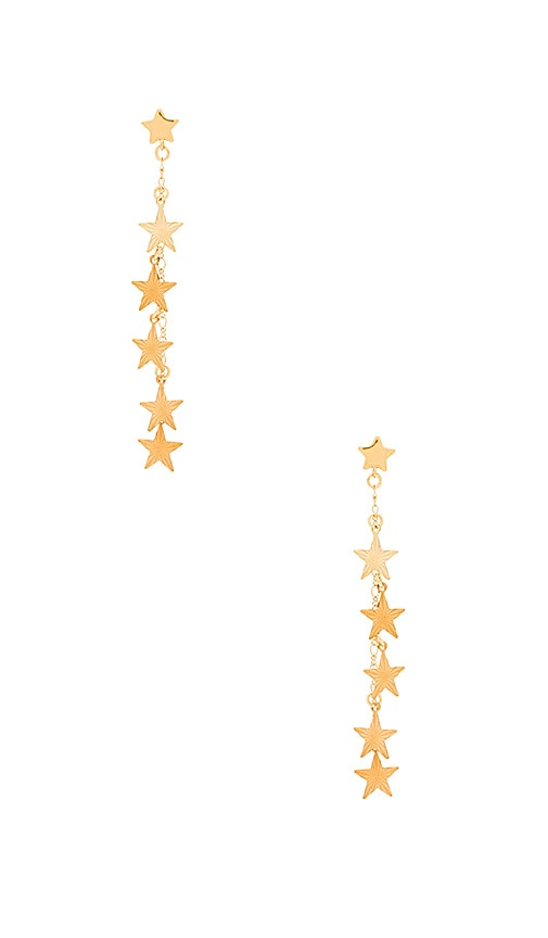 Frasier Sterling Welcome to Miami Earrings in Metallic Gold