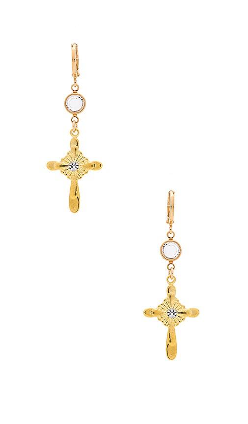 Frasier Sterling Sorento Earrings in Metallic Gold