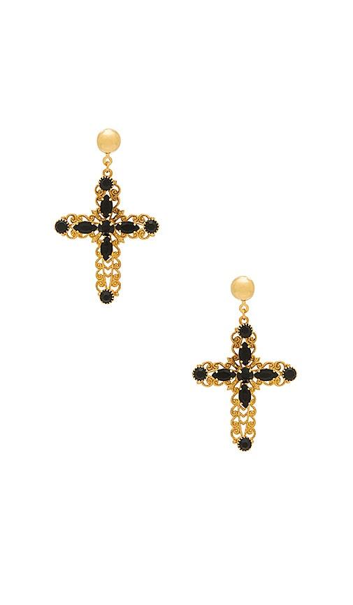 Frasier Sterling Madonna Earrings in Metallic Gold