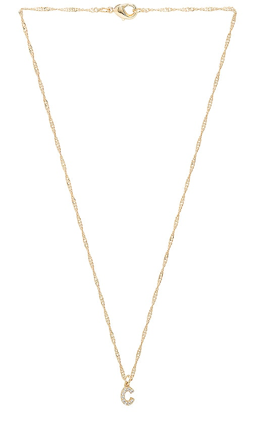 Frasier Sterling C Initial Necklace in Gold