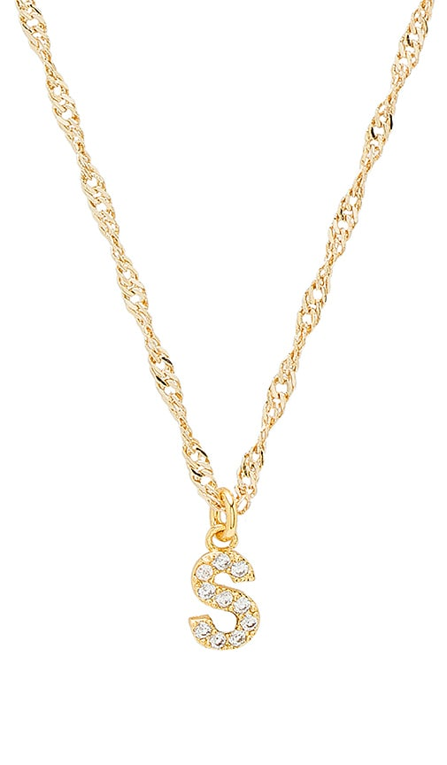 Frasier Sterling S Initial Necklace in Gold