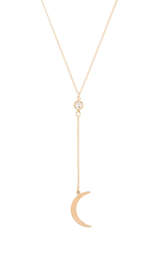 Frasier Sterling Low Rider Moon Necklace in Gold