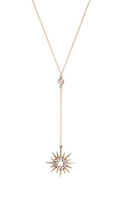 Frasier sterling low rider starburst necklace in gold revolve low rider starburst necklace mozeypictures Images