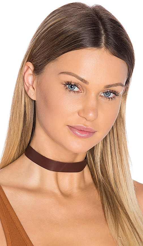 Frasier Sterling Born to Be Wild Choker in Chocolate Brown