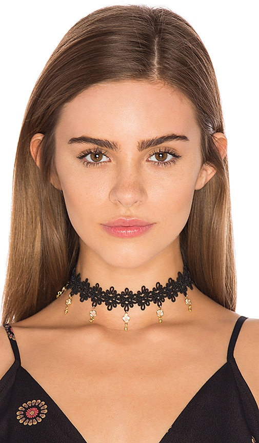 Frasier Sterling Zeppelin Crystal Choker in Black yRLYtQ56LB