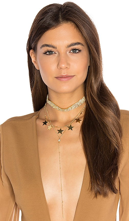 Frasier Sterling Disco Queen Layer Necklace in Metallic Gold