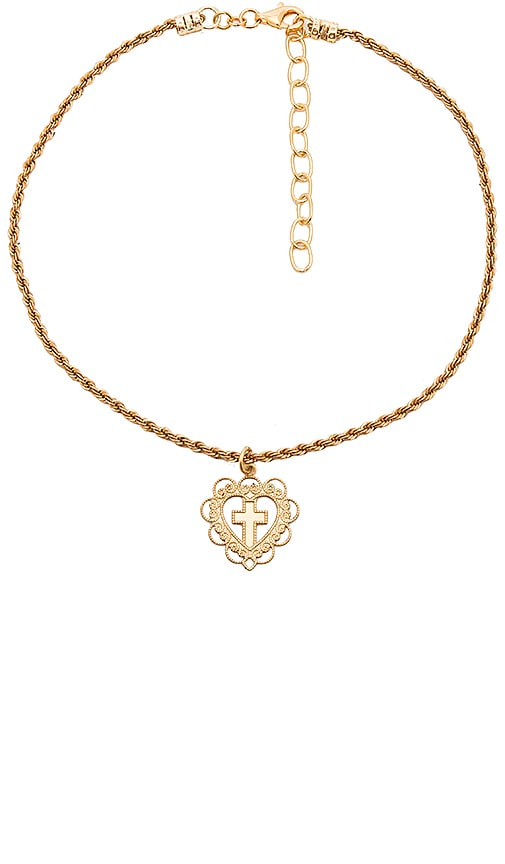 Frasier Sterling Amor Choker in Metallic Gold