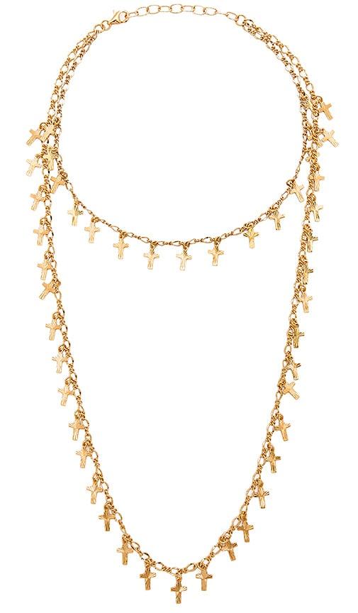 Frasier Sterling Babygirl Prelayer Necklace in Metallic Gold