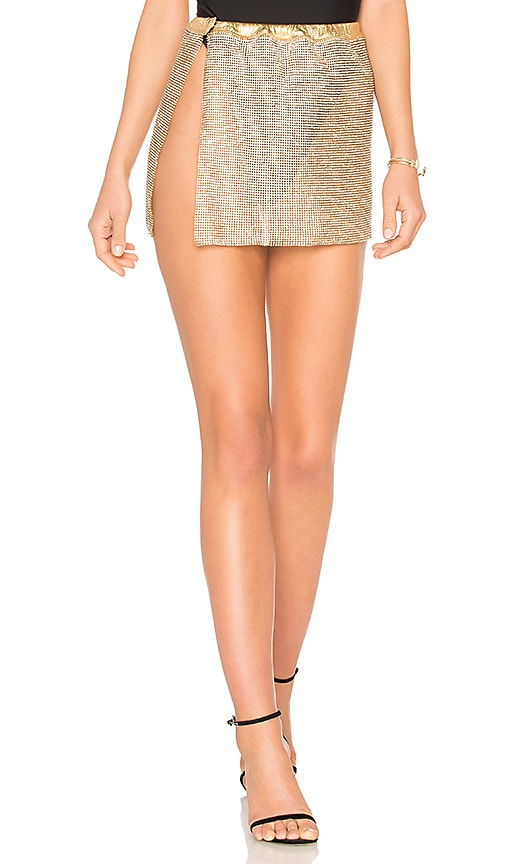 Frasier Sterling After Party Skirt in Gold