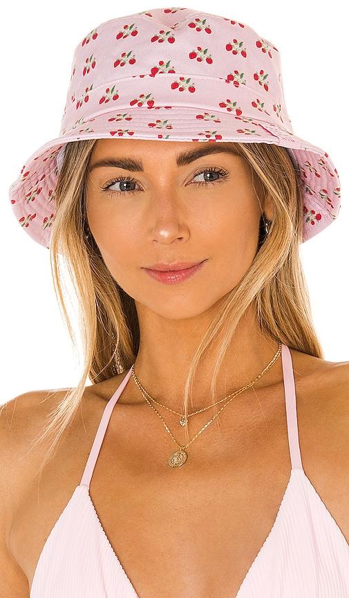 Frankies Bikinis Jax Bucket Hat In Baby Berry