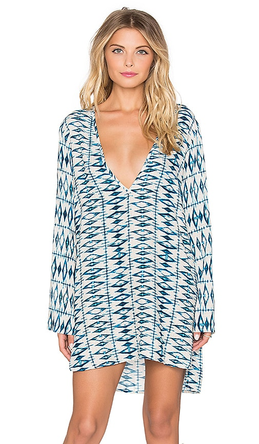 Frankies Bikinis Hana Mini Dress in Shibori