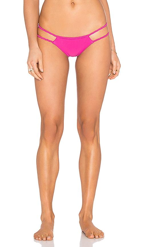 Frankies Bikinis Oceanside Bikini Bottom in Pink