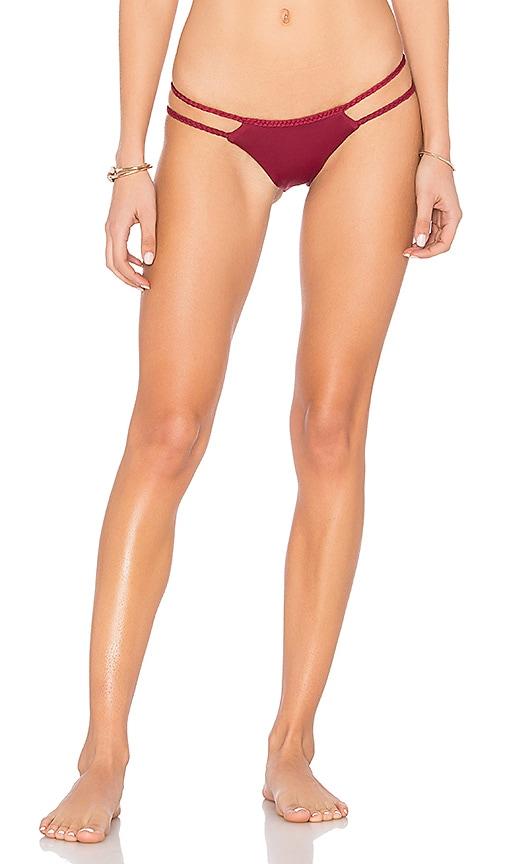 Frankies Bikinis Mimi Bottom in Burgundy