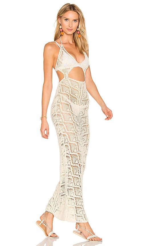 Frankies Bikinis Jasmine Dress in Cream