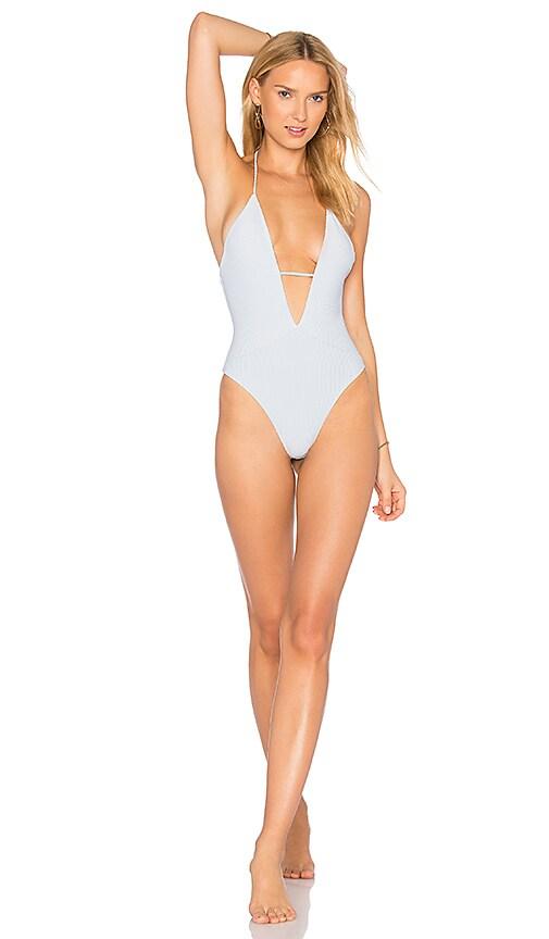 Frankies Bikinis Lilly One Piece in Baby Blue