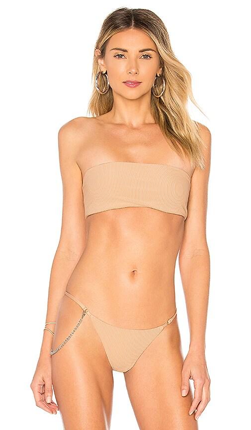 Frankies Bikinis Scarlett Top in Beige