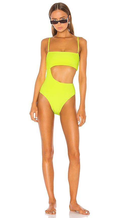 37fef1f8a61f0 Frankies Bikinis X REVOLVE Carter One Piece in Lemon Drop Yellow ...
