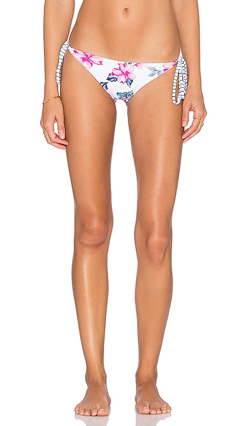 Frankie's Bikinis Marley Bikini Bottom in Floral & Stripe