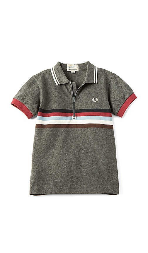 Fred Perry Chest Stripe Shirt in Charcoal