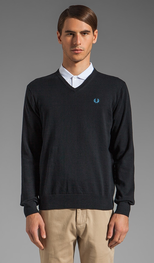 Classic Tipped V-Neck Sweater