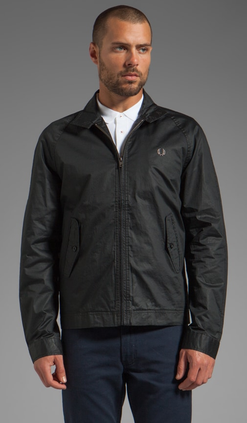 Coated Cotton Harrington Jacket
