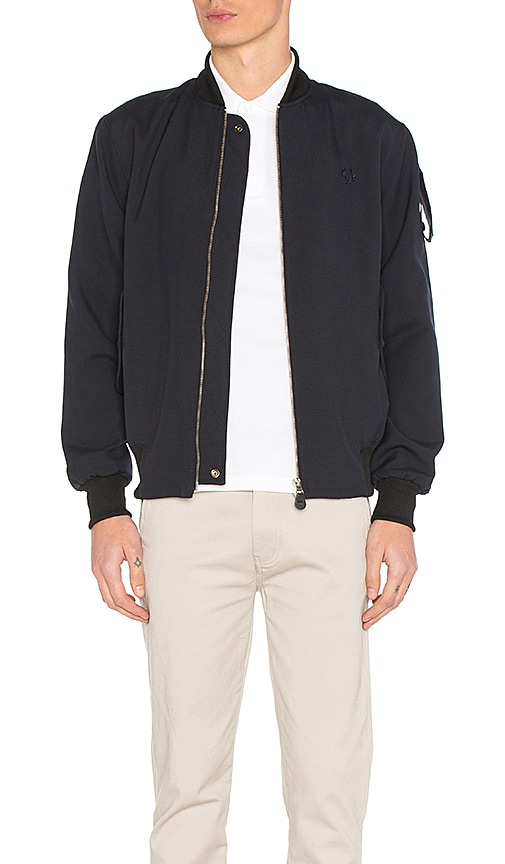 Fred Perry x Art Comes First Bomber Jacket in Navy