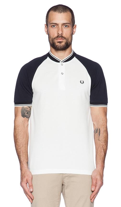Bomber Neck Pique Shirt