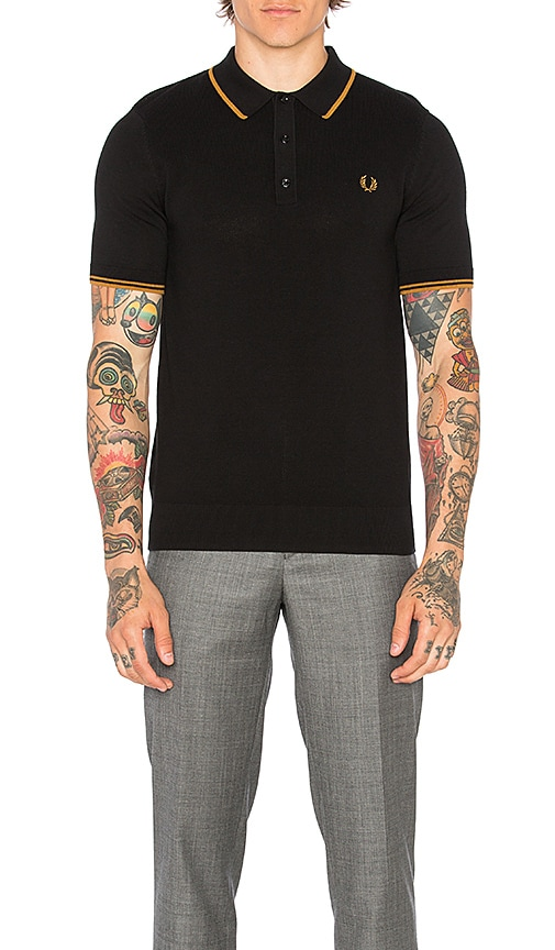 Fred Perry Twin Tipped Shirt in Black
