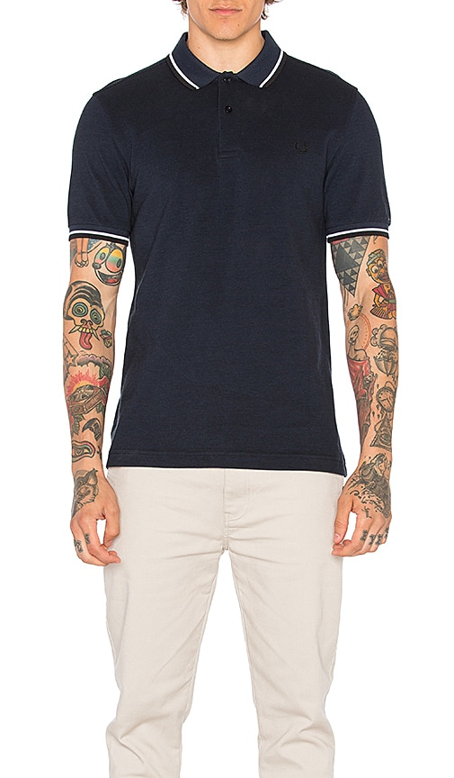 Fred Perry Twin Tipped Shirt in Navy