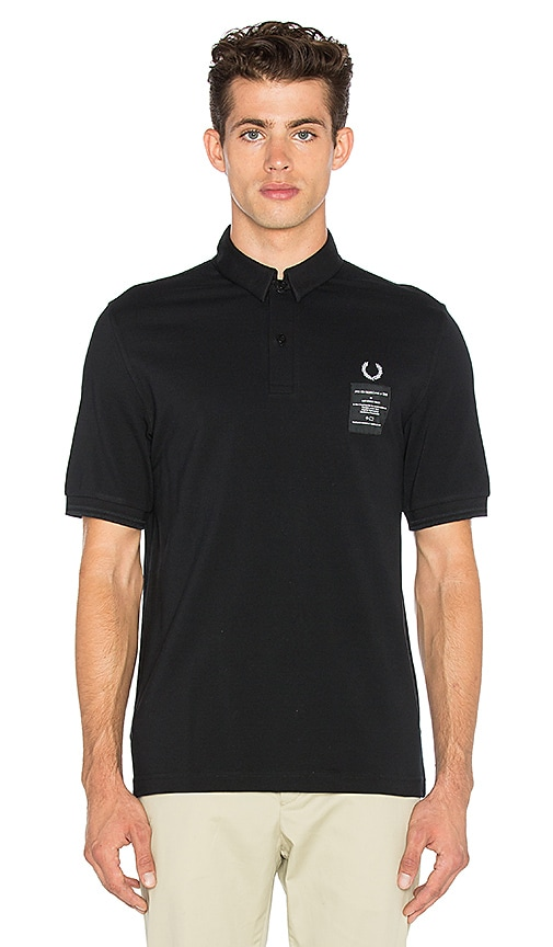 Fred Perry x Art Comes First Woven Collar Pique Shirt in Black