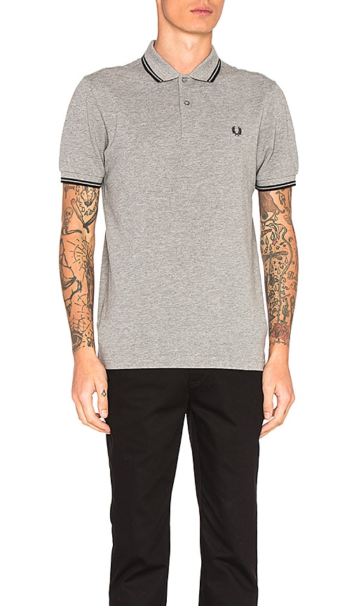 Fred Perry Twin Tipped Fred Perry Polo in Gray