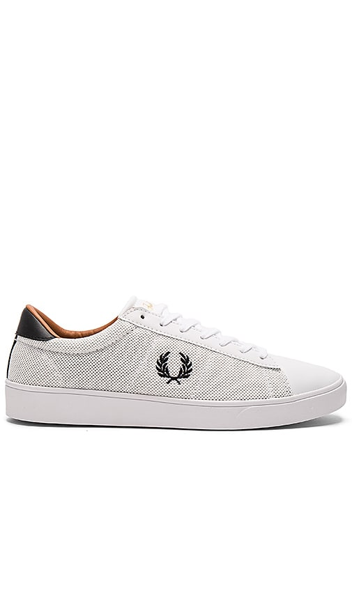 Fred Perry Spencer Mesh & Leather Sneakers in White