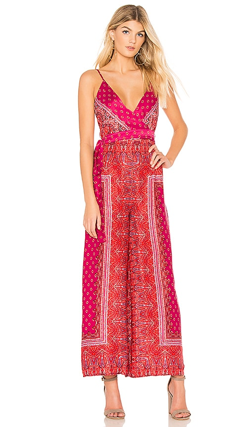 Cabbage Rose Print Jumpsuit - Pink combo Free People Sale Visa Payment Shop For Sale Manchester Great Sale Cheap Online 4jDxmUWTj5