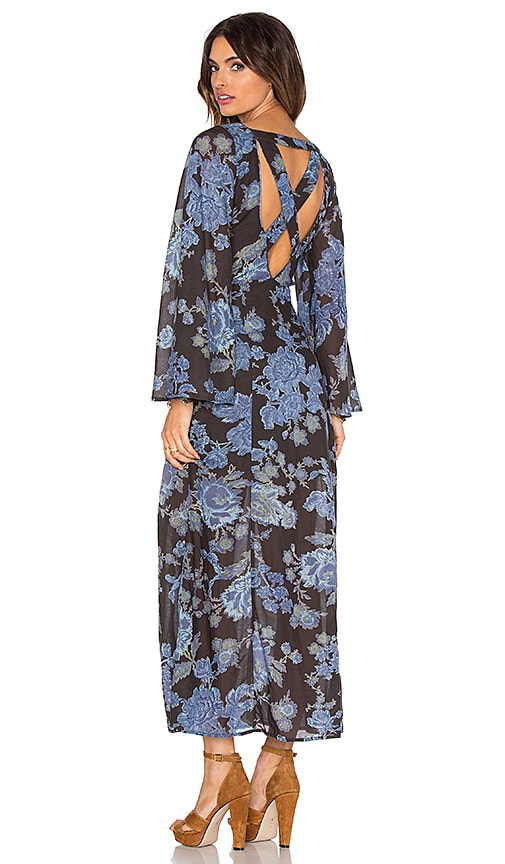 Free People Melrose Printed Dress in Night Combo