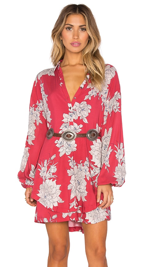 Free People Shake It Dress in Red
