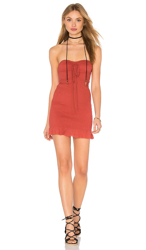 Free People Beach Babe Dress in Rust