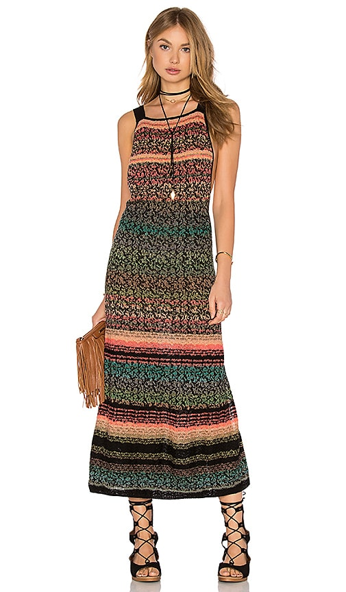 Free People Midnight Flowers Dress in Black Combo