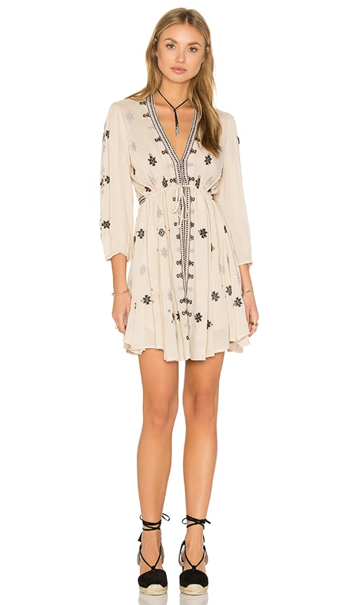 Free People Star Gazzer Dress in Ivory