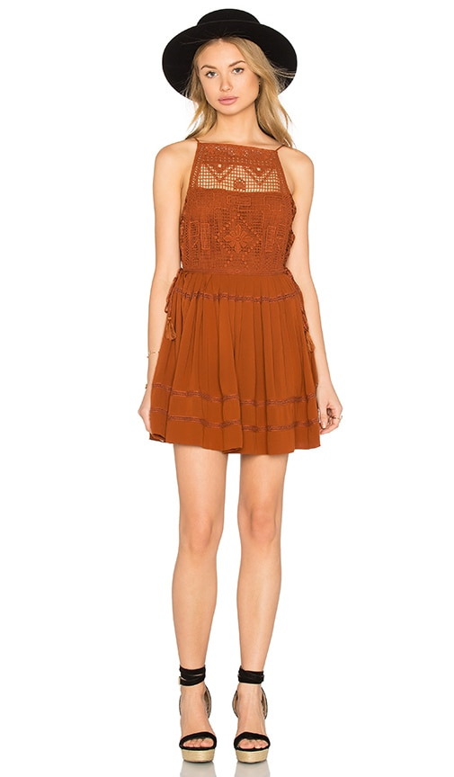 Free People Emily Dress in Rust