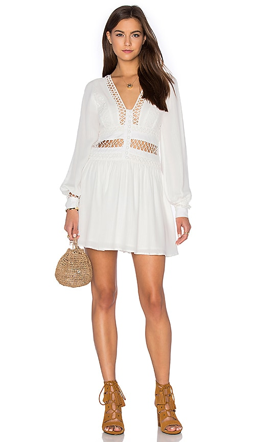 Free People I Think I Love You Dress in Ivory