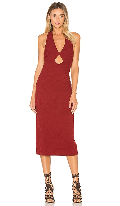 Free People All The Right Angles Dress in Rust
