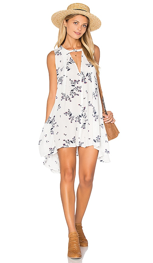 Free People Snap Out of It Swing Dress in White