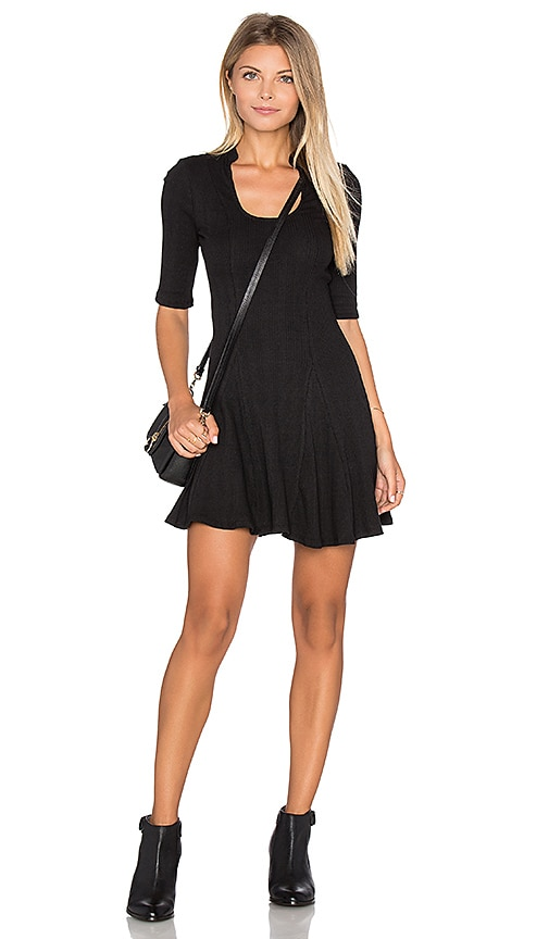 Free People Jolene Rib Dress in Black