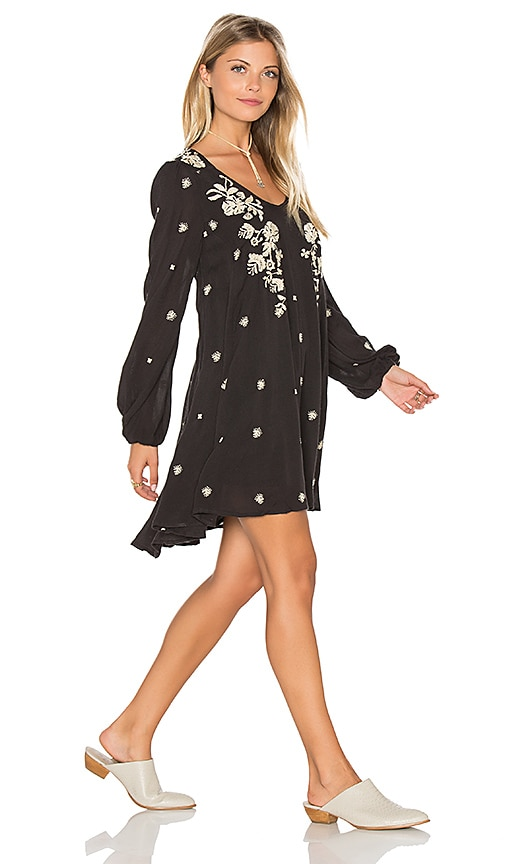 Free People Sweet Tennessee Embroidered Dress in Black Combo