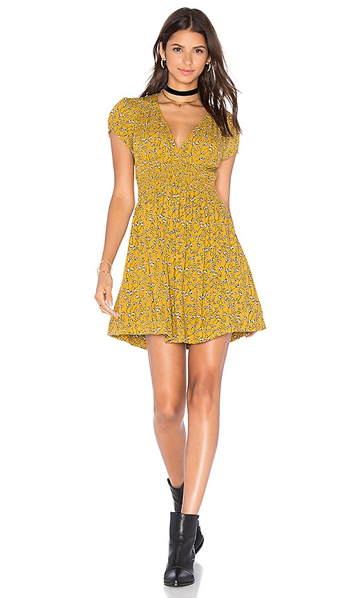 Free People Pretty Baby Dress in Mustard